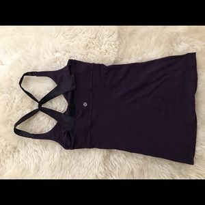 Purple lululemon crossed back top